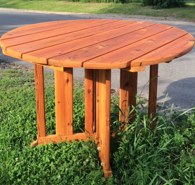 Indoor/Outdoor Cedar Table