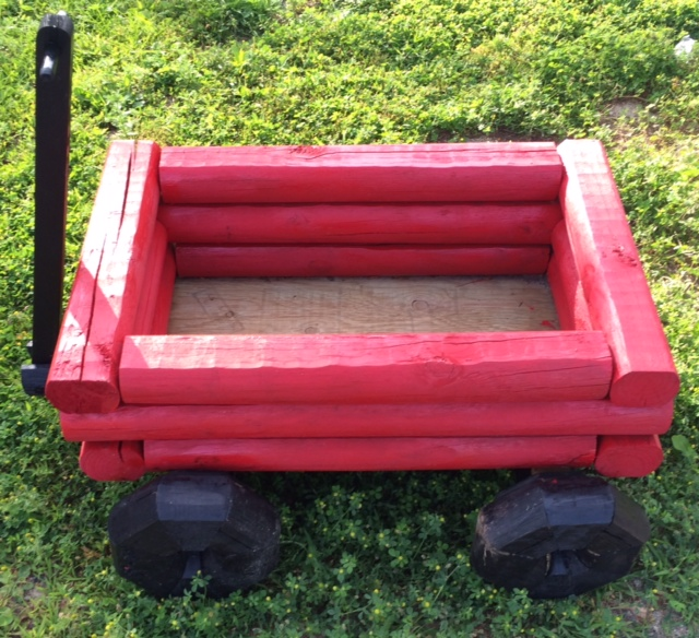 Little Red Wagon Planter