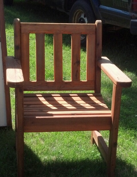 Adult size Cedar Chair $55.00