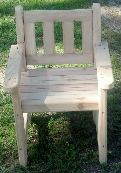 Child Size Cedar Chair $30.00